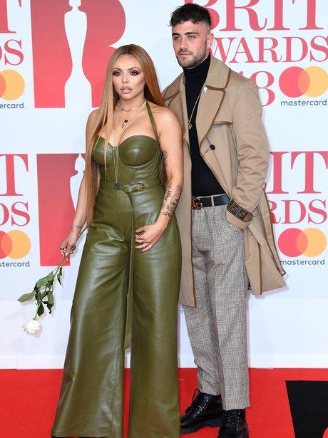Jesy Nelson and her boyfriend BRIT Awards 2018