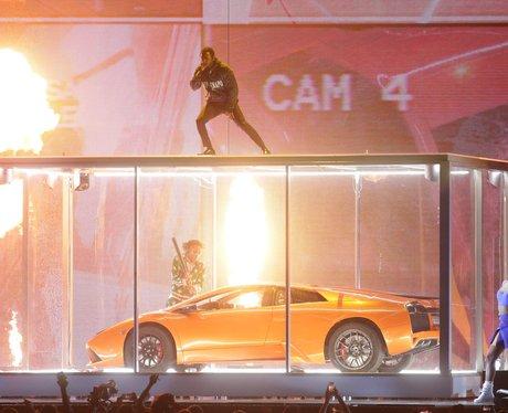 Kendrick Lamar on stage BRIT Awards 2018