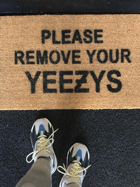 Kris Jenner's Yeezy mat
