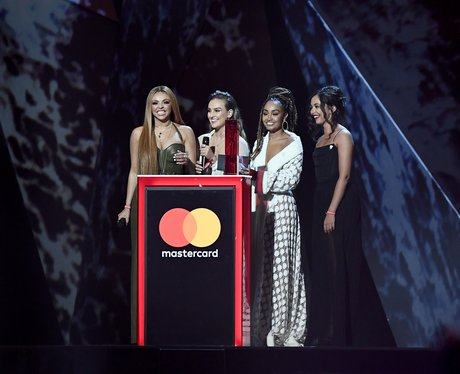 Little Mix on stage BRIT Awards 2018