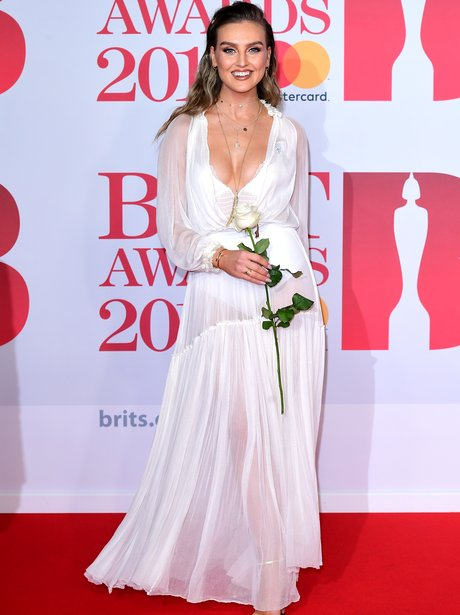 Perrie Edwards red carpet BRIT Awards 2018