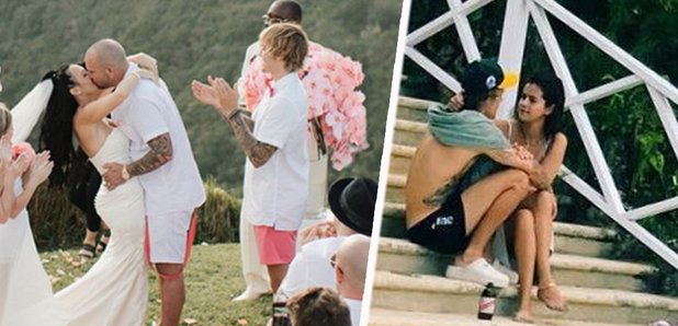 justin bieber took selena gomez to his dad�s wedding