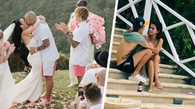 Justin Bieber Took Selena Gomez To His Dad's Wedding ... джастин бибер свадьба