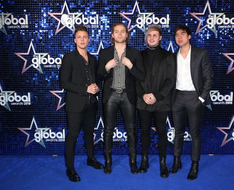 5 Seconds of Summer Global Awards 2018 blue carpet