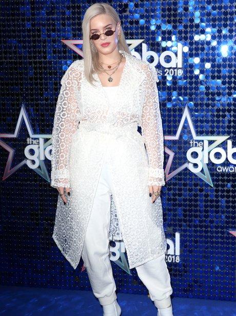 Anne-Marie Global Awards 2018 blue carpet