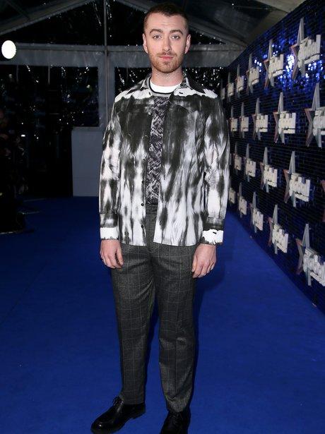 Sam Smith Global Awards 2018 blue carpet