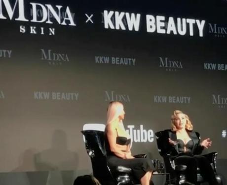 Kim Kardashian Madonna Beauty Talk Instagram