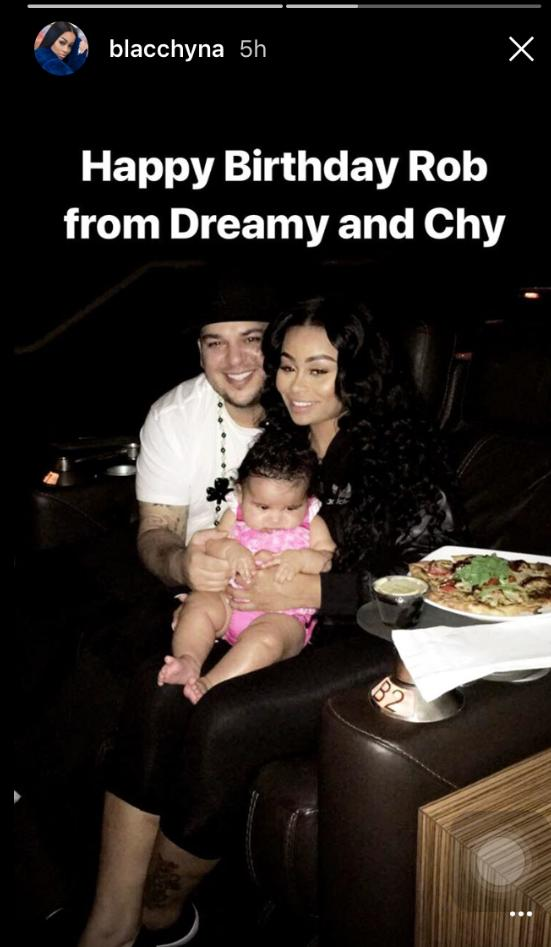 Blac Chyna, Rob Kardashian and Dream