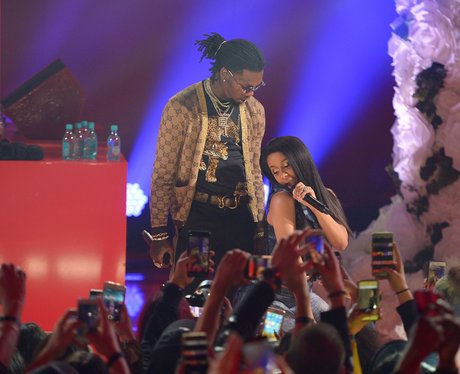 Cardi B Performs With Fiancee Offset