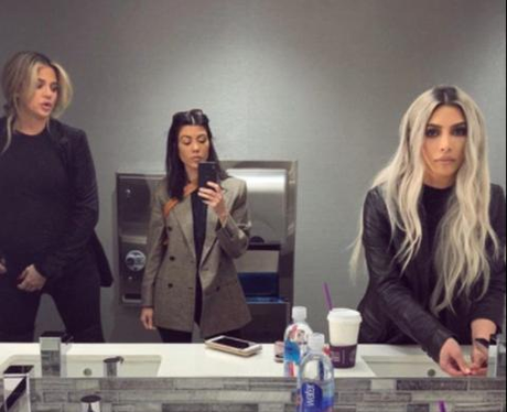 Kim Kourtney Khloe Kardashian Mirror Instagram