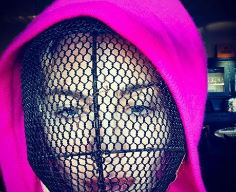 Madonna Net Mask Instagram