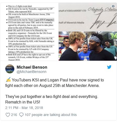 KSI & Logan Paul Contract