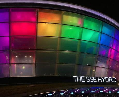 Sam Smith Hydro Arena Pride Colours Instagram