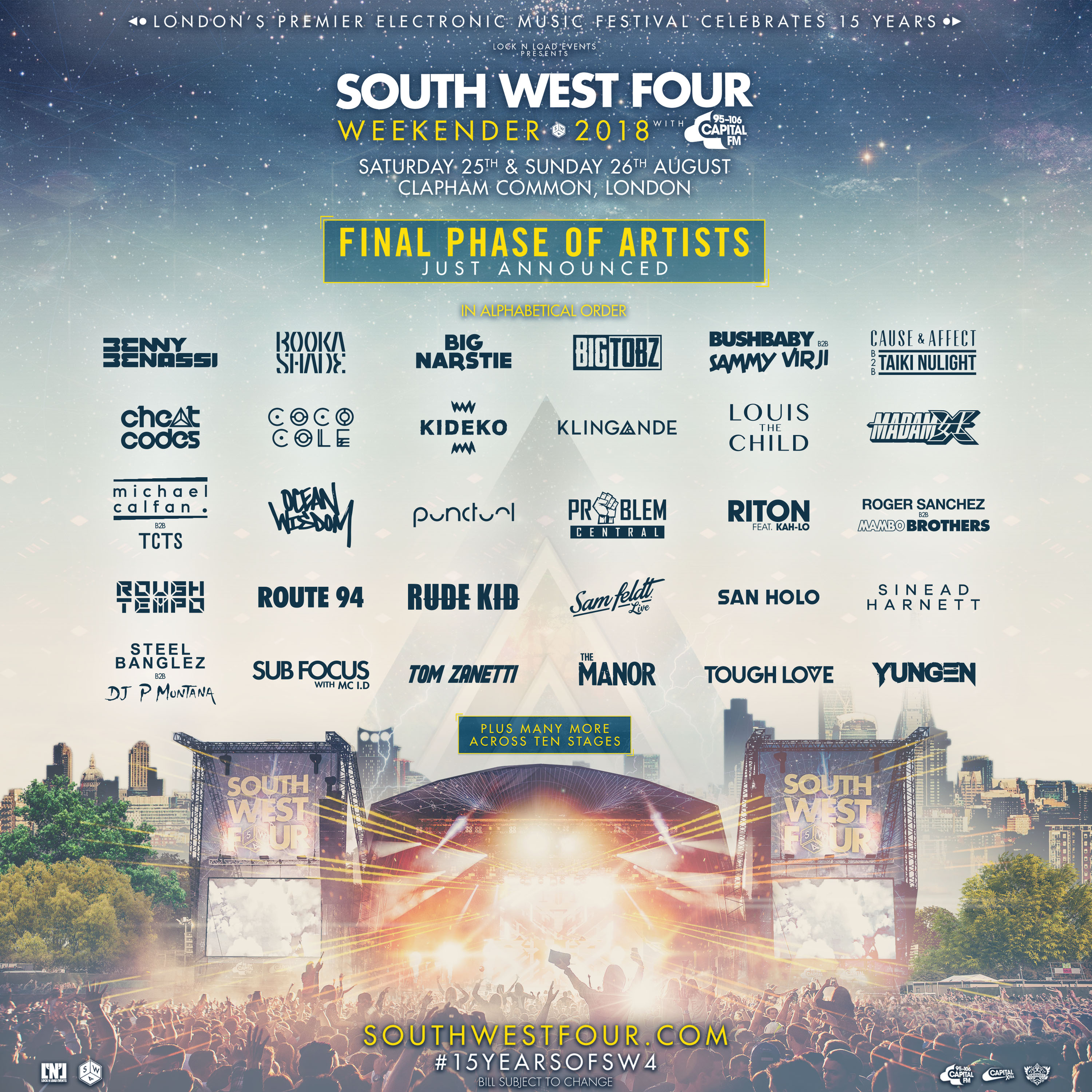 South West Four 2018 Line Up Additions