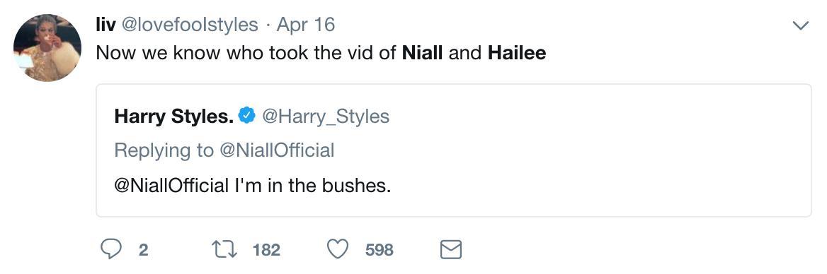 Niall & Harry Tweet
