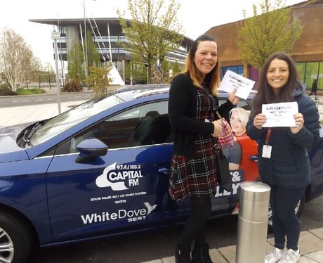 Drive in and Win with White Dove Seat