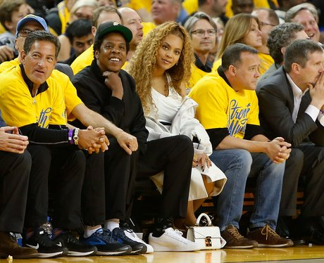 Beyonce At A Basketball Match
