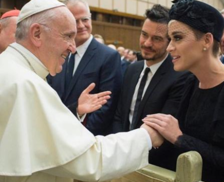 Katy Perry Met The Pope