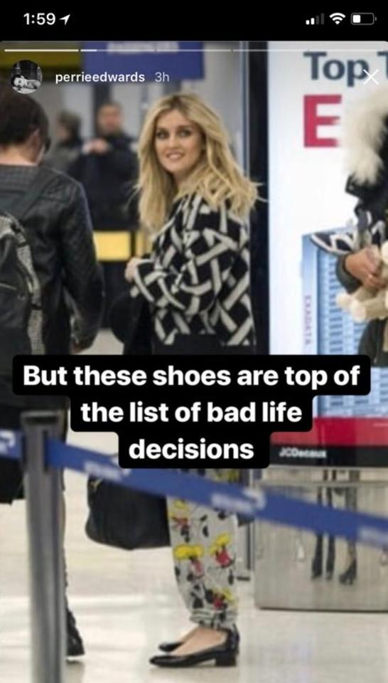 perrie shoes instagram story