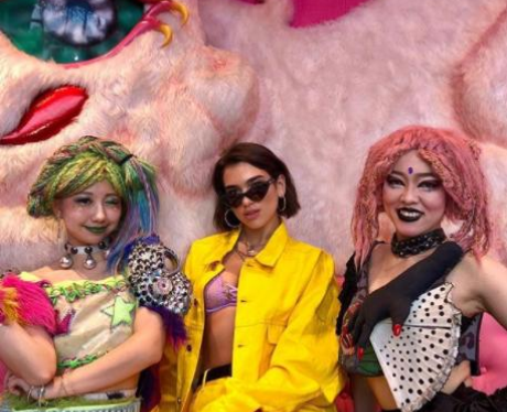 Dua Lipa Hanging Out In Harajuku
