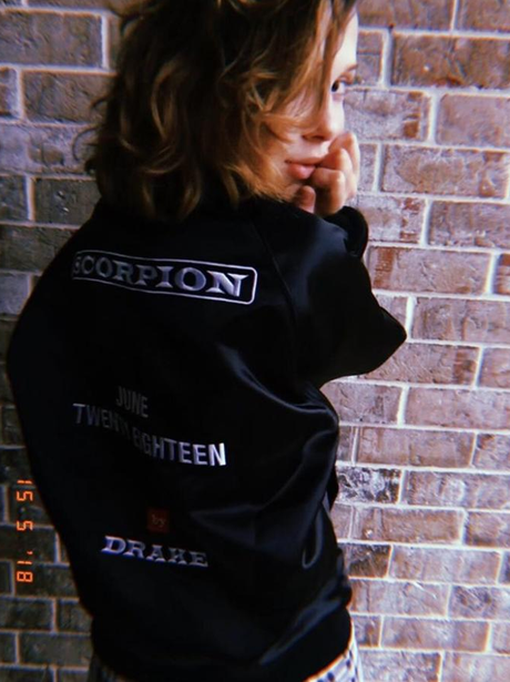 Millie Bobby Brown Gets Drake Jacket