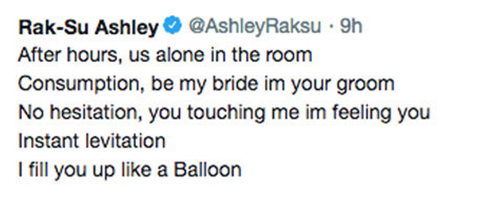 Rak-Su Ashley Tweet