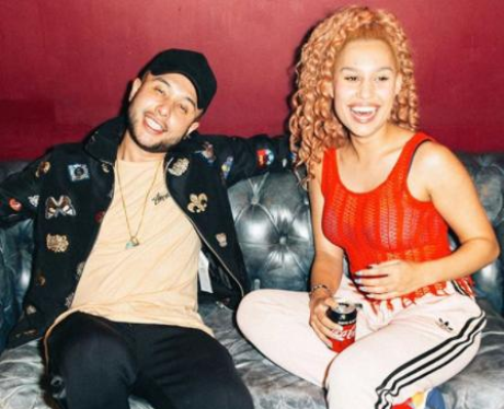 Jax Jones Raye Backstage