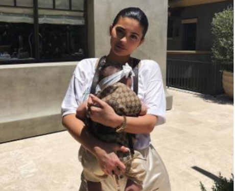 Kylie Jenner Gucci Baby Carrier