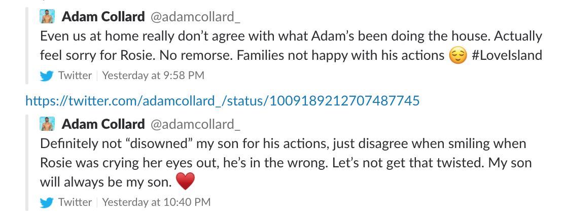 Adam Collard Love island 2018