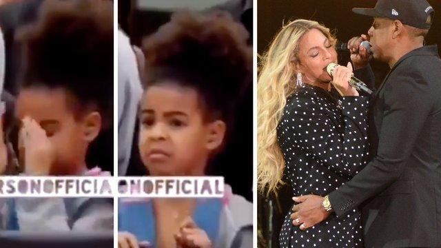 Video Blue Ivys Reaction To Beyonc  Jay Zs Raunchy -7108