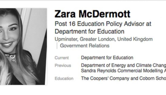 Love Island Zara McDermott LinkedIn