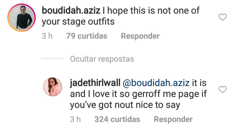 Jade Thirlwall's Instagram Response