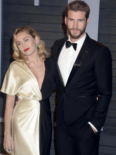 Miley Cyrus Liam Hemsworth Vanity Fair Oscar Party