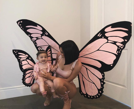 Kylie Jenner and Stormi as butterflies
