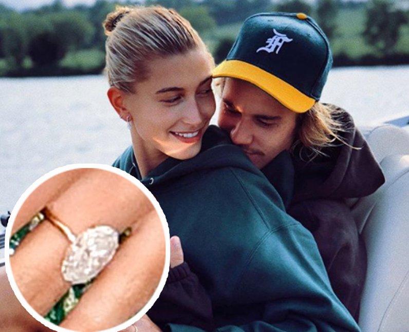 Justin Bieber Hailey Baldwin engagement ring