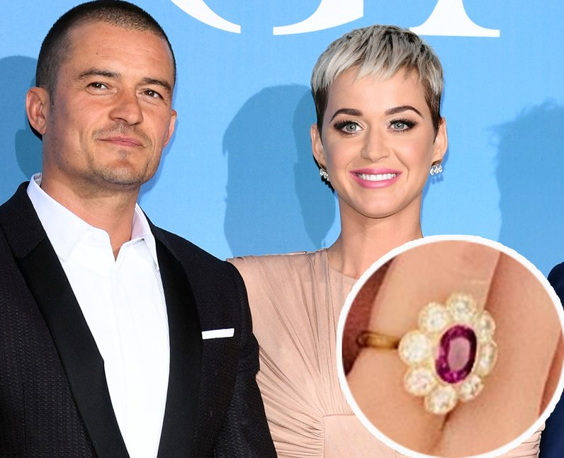 Katy Perry and Orlando Bloom engagement ring