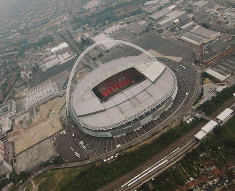 Aerial view of Wembley