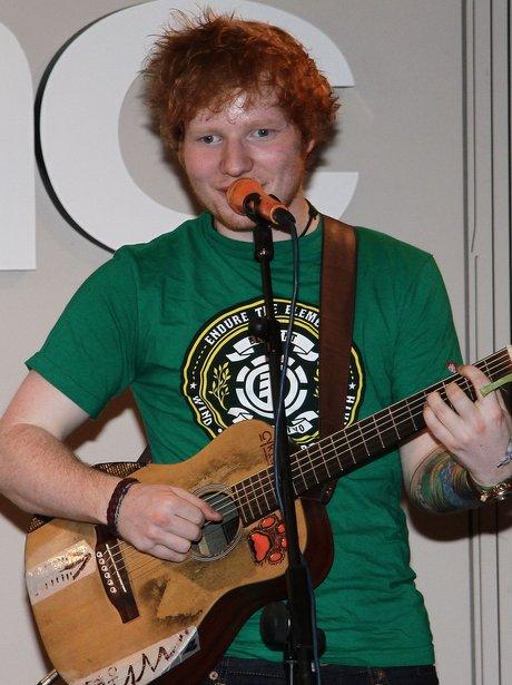 Ed Sheeran performing