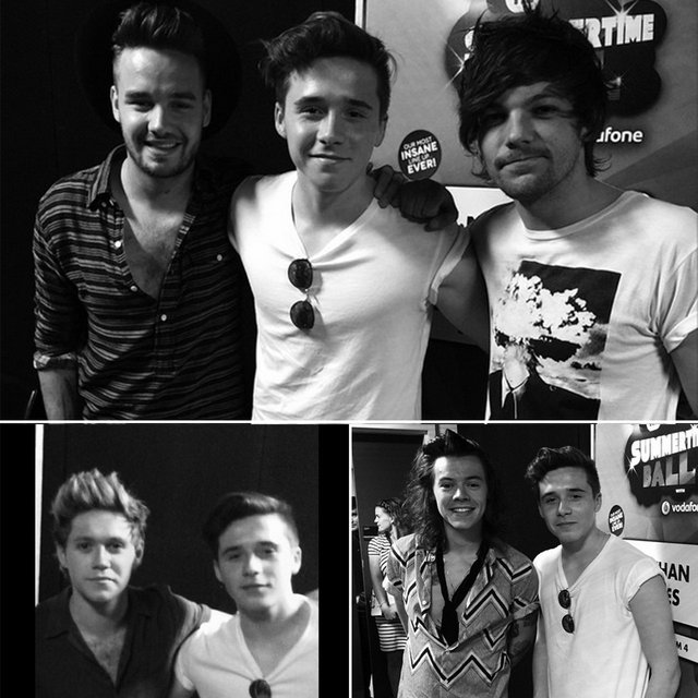 Brooklyn Beckham with One Direction
