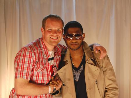 Usher backstage